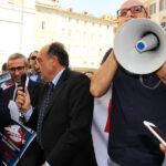 Manifestazione giornalisti davanti al Parlamento